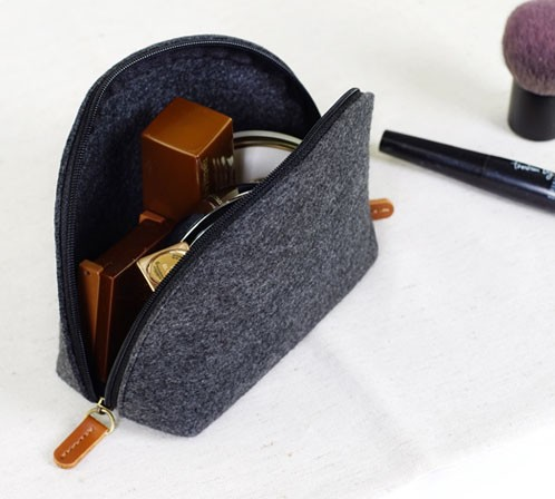 Wool Felt Cosmetic Bag